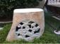 自然石草坪灯 庭院石灯 仿古雕刻